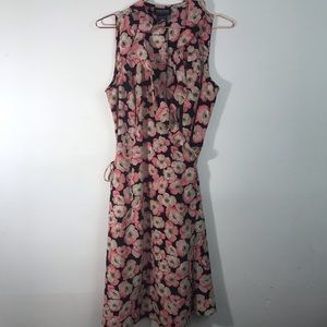 New York and company ruffled floral wrap dress 8